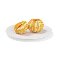 half tangerine white plate c4d