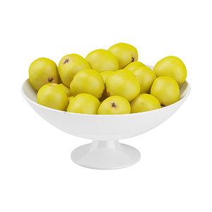 3d quince bowl