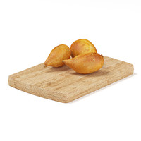 Yams on Wooden Board