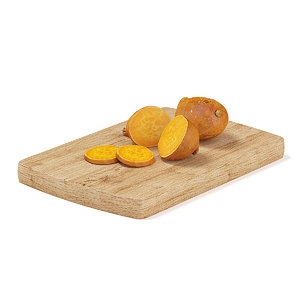 cutted yam wooden board max