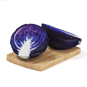 3d cutted red cabbage