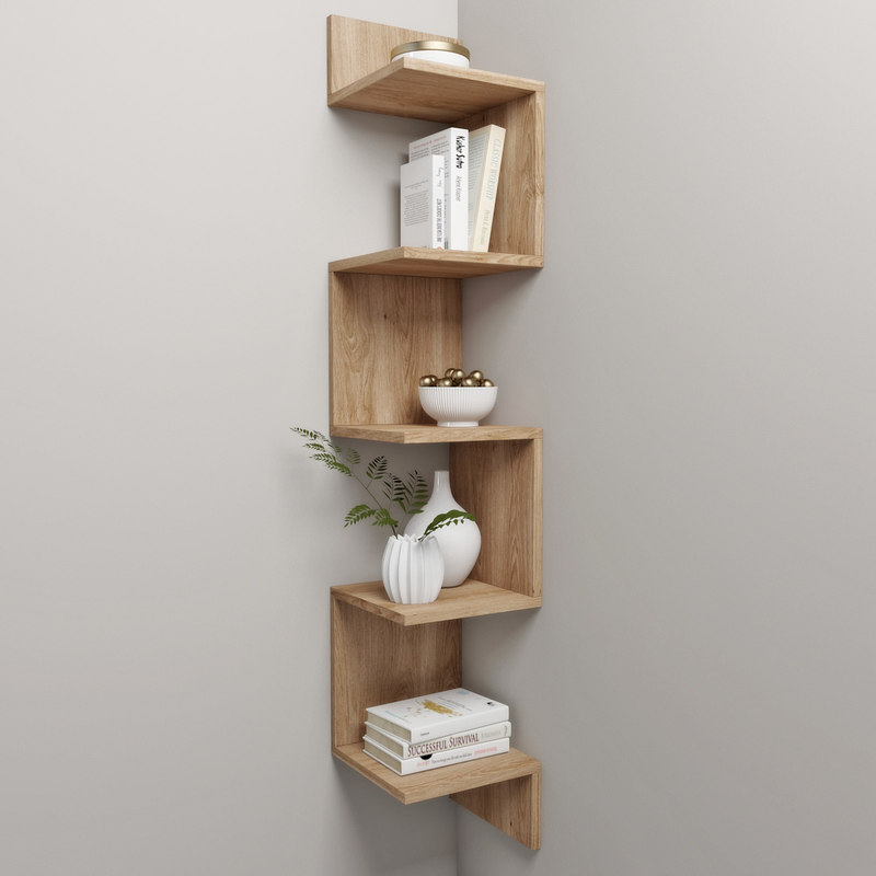 corner shelf decor 3d max