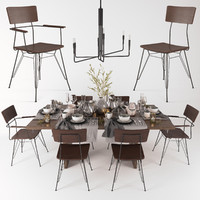 3d model elston dining chair monarch