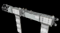 c4d iss outer truss segments