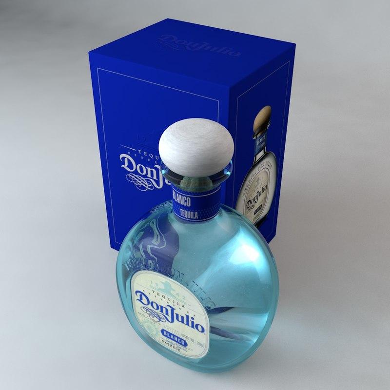 don julio blanco tequila c4d