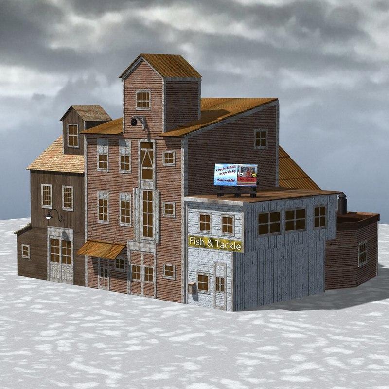 building wharf poser 3d model