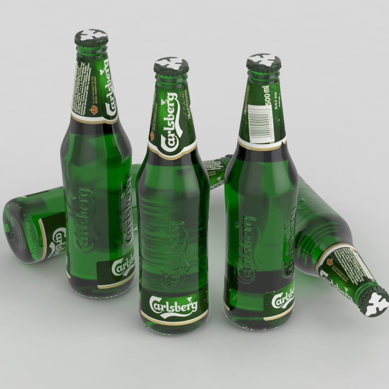 beer bottle carlsberg 3d max