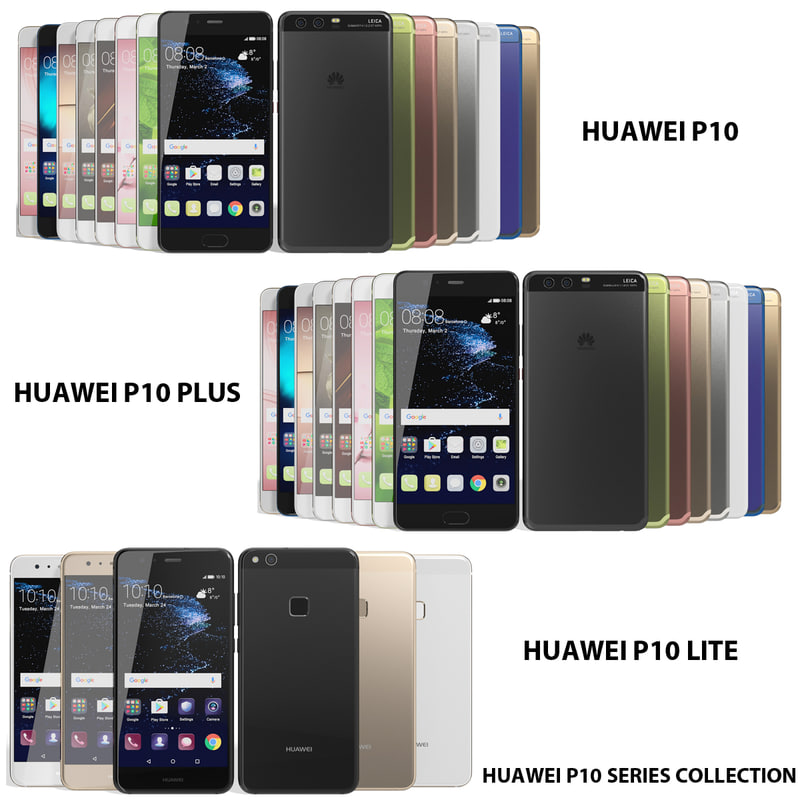 realistic huawei p10 3d max