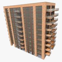 realistic building interior 01 3d max