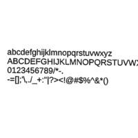 Arimo font CG CAD data