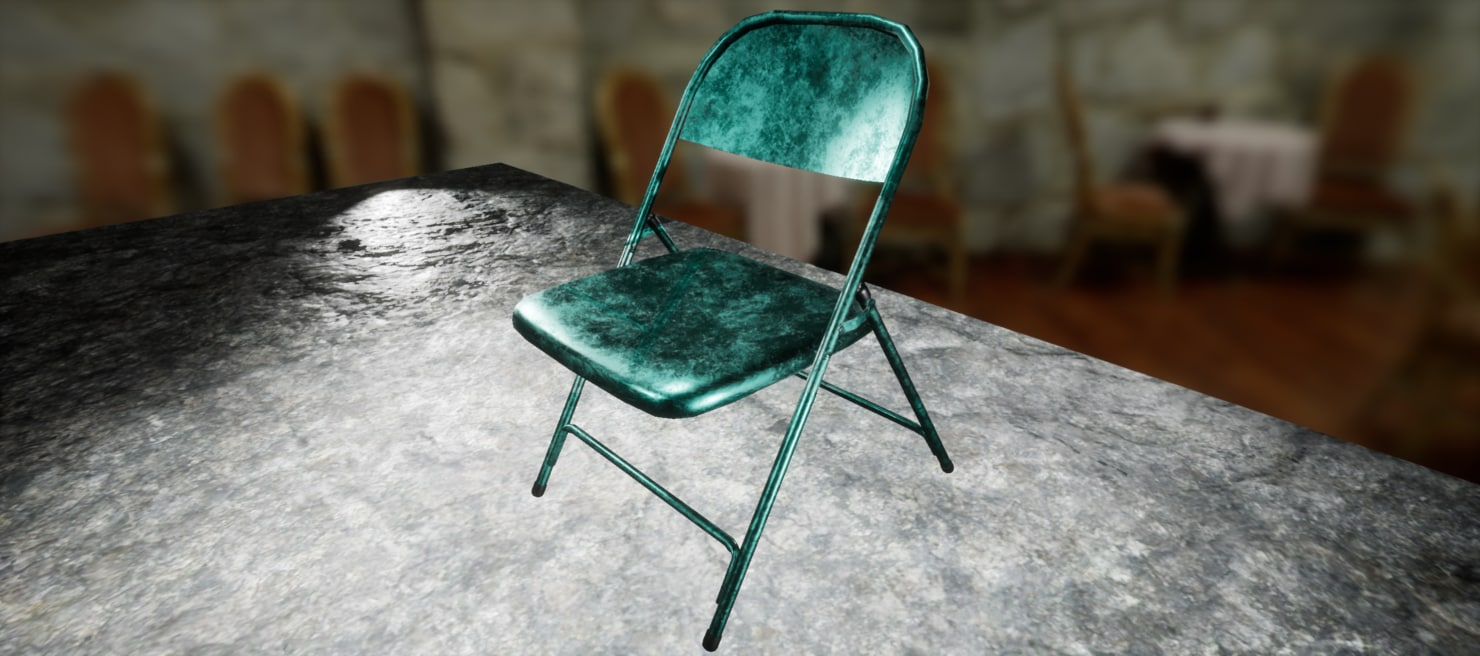obj folding chair