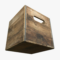Wooden Milk Crate Game Ready PBR Textures