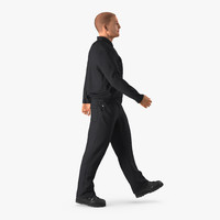 3d model worker walking pose