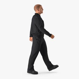 3d model worker walking pose