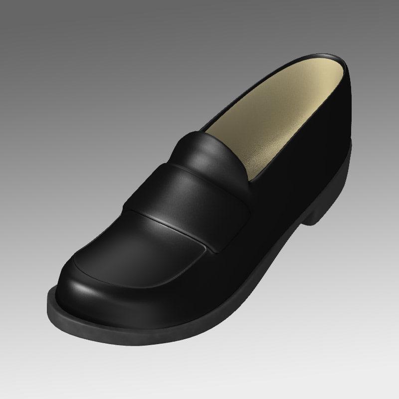 3d loafer shoes model