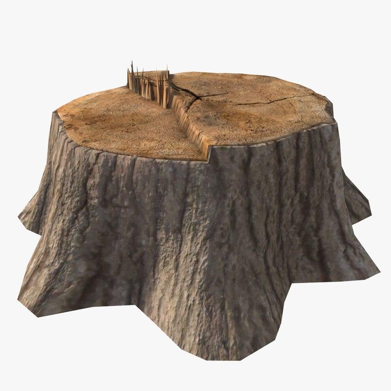 tree stump 3d obj