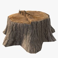tree stump 3d obj