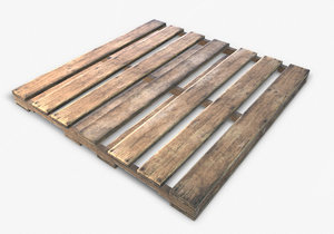 ready wooden pallet pbr 3d 3ds