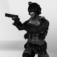 rigged special ops soldier 3d 3ds