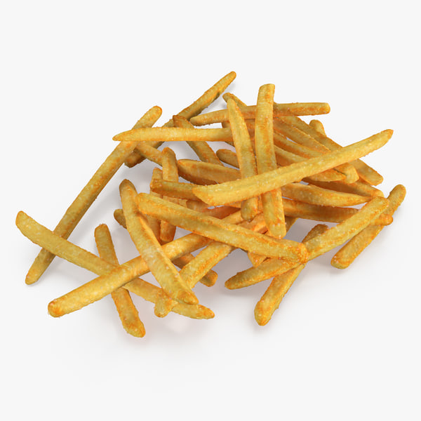 3d pile french fries