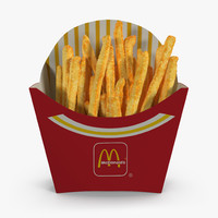 french fry box mcdonalds 3d model