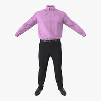 3d model office wear men