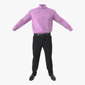 3d model office wear men