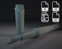3d model montblanc pen