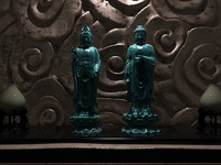 3d model buddhist statues