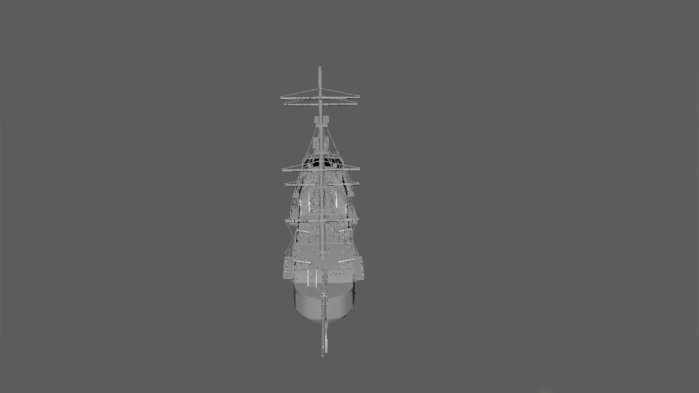 pirate battleships fbx free