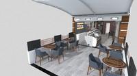 cafes coffeeshops waffleshops 3d model