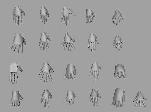 obj hand assets