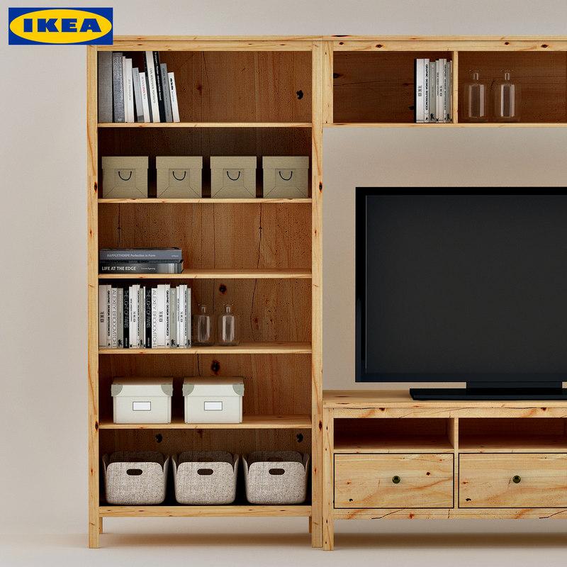 ikea hemnes display tv 3d model