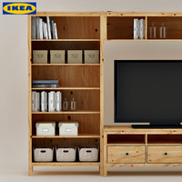 ikea cabinet display tv hemnes bookcase book box  shelf library decoration set vase ikea home