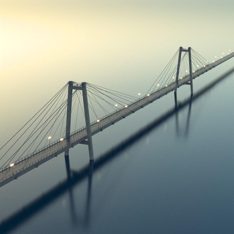 3d x bridge russian city
