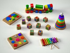 3d toy alphabet puzzle