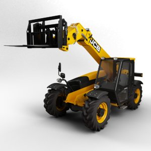 3d model telescopic handler forklift