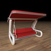 bench-swing 3d max