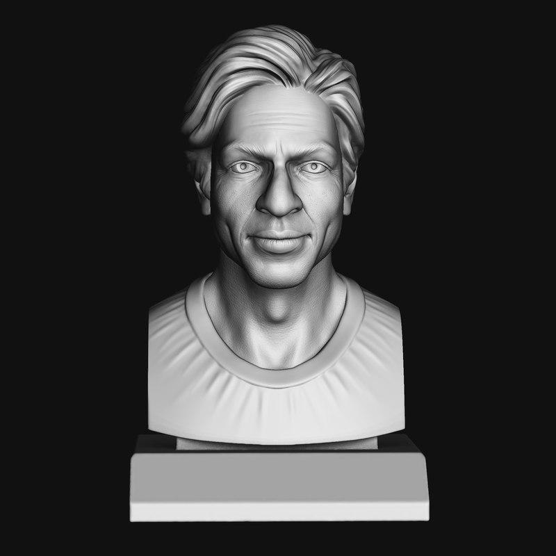 khan bust 3d model