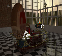 time machine 1960 3d model