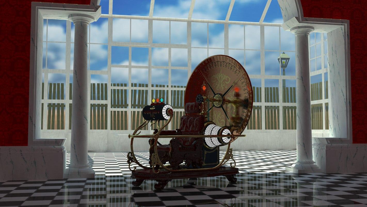time machine 1960 3d model