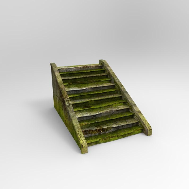 brokenstair broken stair 3d model