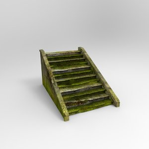 brokenstair broken stair 3d model