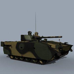 russian bmp-3m 3d model