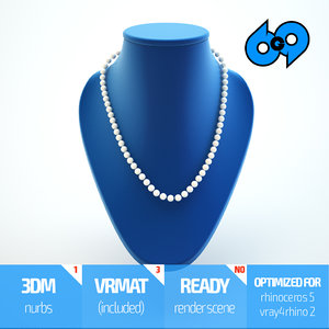 3d model of necklace stand
