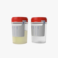 Urine Container with Lid Sterile