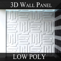 3D Wall Panel - LOW POLY - Bricks