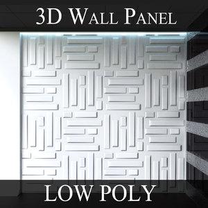 modular wall panels bricks 3d 3ds