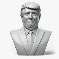 3d model donald trump emotion 2