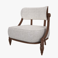 wooden armchair rc 3d model